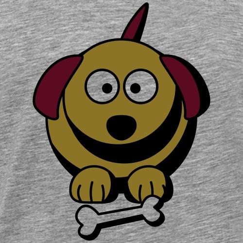 Dog with bone - Men's Premium T-Shirt