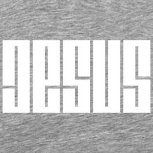 JESUS Geometric - Men's Premium T-Shirt