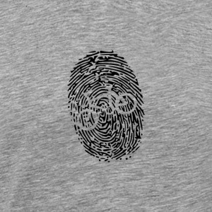 Biker's Fingerprint - Men's Premium T-Shirt