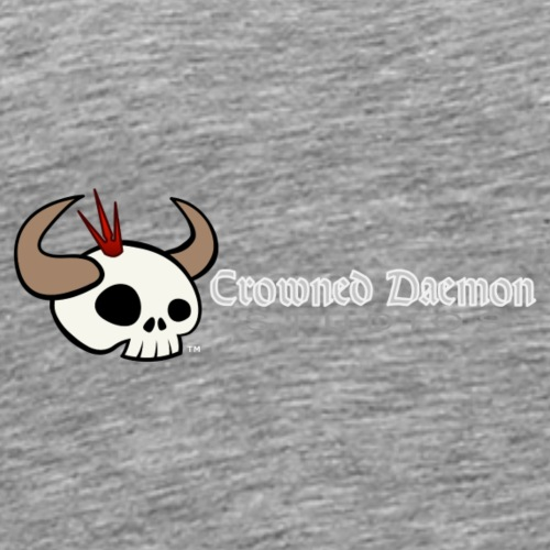 Crowned Daemon Studios Logo - White - Men's Premium T-Shirt
