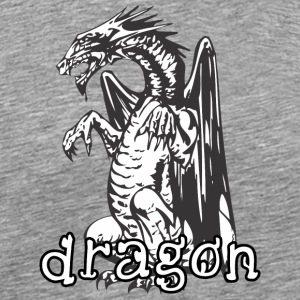 dog_style_sitting_dragon - Men's Premium T-Shirt