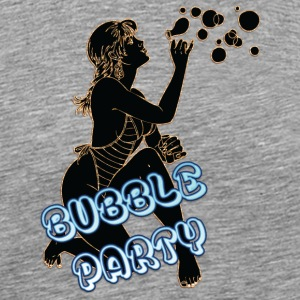 BUBBLE_PARTY_WITH_SEXY_GIRL_BLACK - Men's Premium T-Shirt