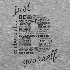 Just B Yourself_blk.txt - Men's Premium T-Shirt