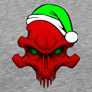 Christmas_Skull_GreenEyesHat - Men's Premium T-Shirt