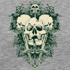 cracked skulls - Men's Premium T-Shirt