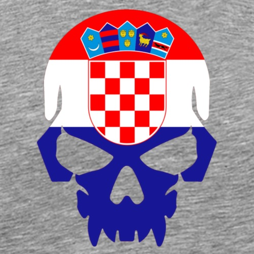 Flag of Croatia Skull - Men's Premium T-Shirt