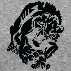 wild_male_lion_black - Men's Premium T-Shirt