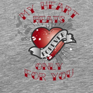 my heart beats for you - Men's Premium T-Shirt