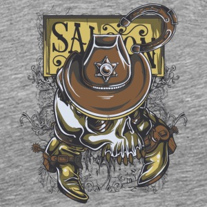 cowboy saloon - Men's Premium T-Shirt