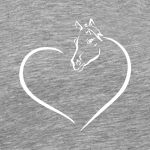 HEART HORSE - Men's Premium T-Shirt