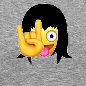 Rock On Emojis Girl - Men's Premium T-Shirt