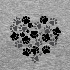 Cat and Dog Paws - Men's Premium T-Shirt