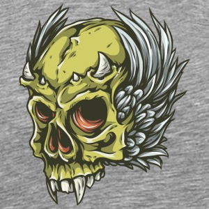 demon_skull_with_horn - Men's Premium T-Shirt