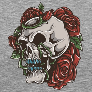 roses_and_skull - Men's Premium T-Shirt