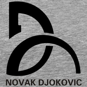 NOVAK DJOKOVIC LOGO BLACK - Men's Premium T-Shirt