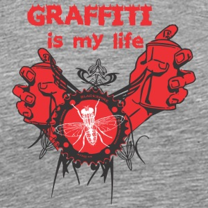 Graffiti is my life - Men's Premium T-Shirt