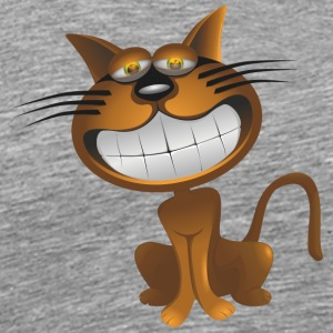 Funny Big Cat Smiling - Men's Premium T-Shirt