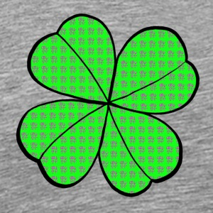 East Meets West Fusion Lucky Four Leaf Clover - Men's Premium T-Shirt