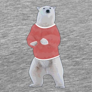 Retro Polar Bear - Men's Premium T-Shirt