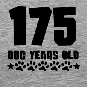 175 Dog Years Old Funny 25th Birthday - Men's Premium T-Shirt