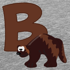 B Is For Badger - Men's Premium T-Shirt