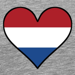Dutch Flag Heart - Men's Premium T-Shirt