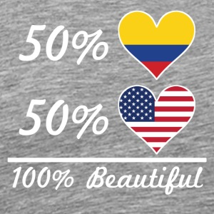 50% Colombian 50% American 100% Beautiful - Men's Premium T-Shirt