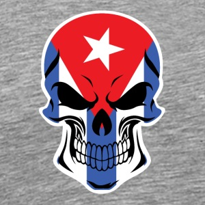 Cuban Flag Skull - Men's Premium T-Shirt