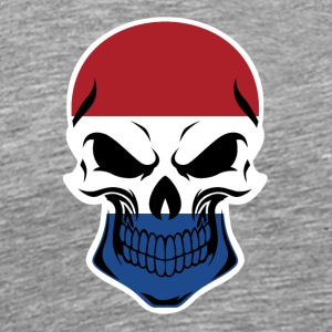 Dutch Flag Skull - Men's Premium T-Shirt