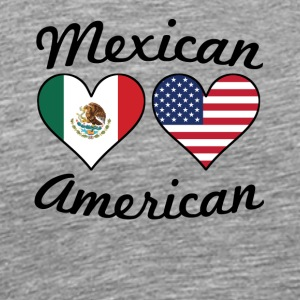 Mexican American Flag Hearts - Men's Premium T-Shirt