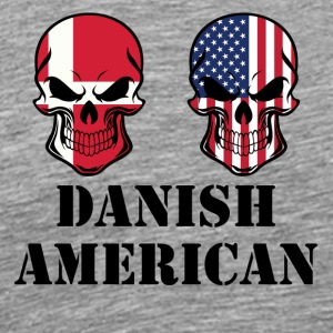 Danish American Flag Skulls - Men's Premium T-Shirt