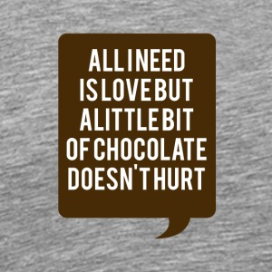 Love and chocolate - Men's Premium T-Shirt