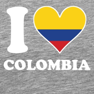I Love Colombia Colombian Flag Heart - Men's Premium T-Shirt