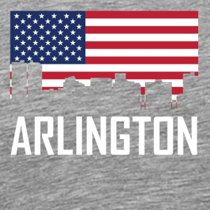 Arlington Texas Skyline American Flag - Men's Premium T-Shirt