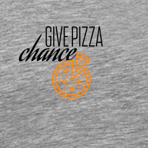 Give pizza chance - Men's Premium T-Shirt