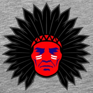 indian_chief_head_black - Men's Premium T-Shirt