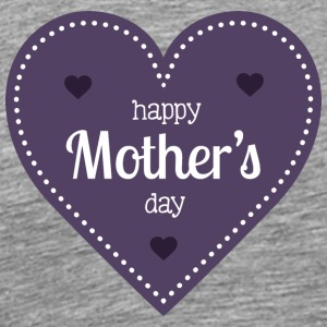 happy_mother-s_day_dark_heart - Men's Premium T-Shirt