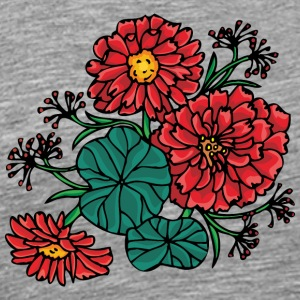 red_flower_bush - Men's Premium T-Shirt
