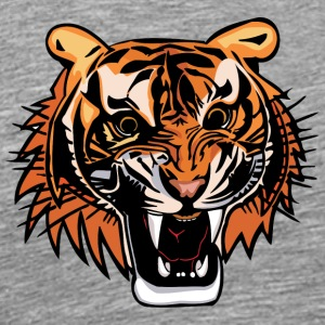 angry_tiger_head_color - Men's Premium T-Shirt