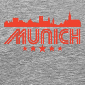 Retro Munich Skyline - Men's Premium T-Shirt