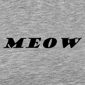 meow text - Men's Premium T-Shirt