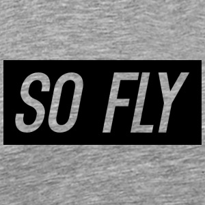 So Fly logo design - Men's Premium T-Shirt