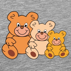 three funny teddy bears - Men's Premium T-Shirt
