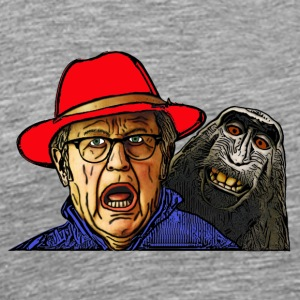 Monkey scares an English old man - Men's Premium T-Shirt