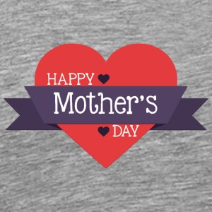 happy_mother-s_day_red_heart - Men's Premium T-Shirt