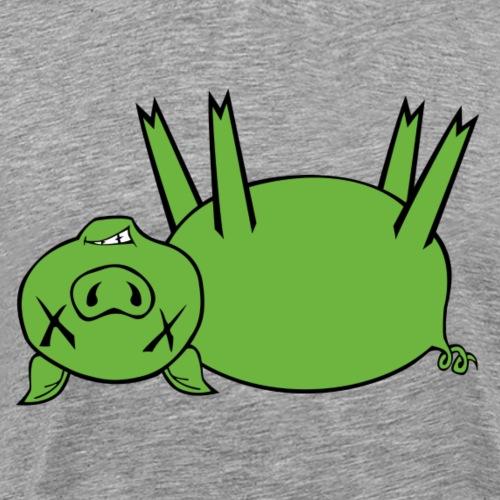 Plain Dead Pig - Green - Men's Premium T-Shirt