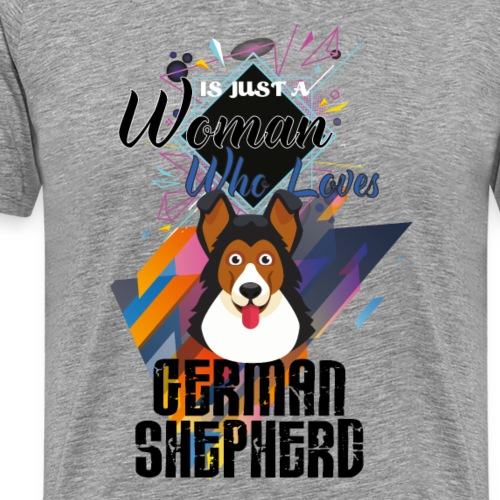 who loves german shepherd - Men's Premium T-Shirt