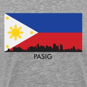 Pasig Philippines Skyline Filipino Flag - Men's Premium T-Shirt
