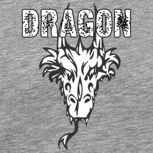 dragon_head_with_horns - Men's Premium T-Shirt