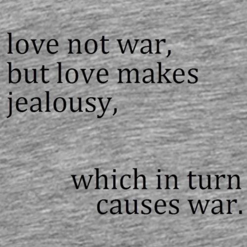 love not war - Men's Premium T-Shirt